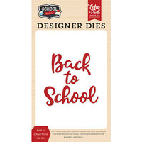 Echo Park - School Rules Collection - Designer Dies - Back to School Word
