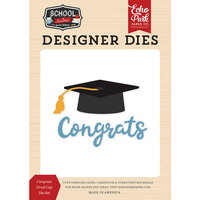 Echo Park - School Rules Collection - Designer Dies - Congrats Grad Cap