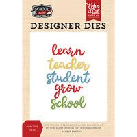 Echo Park - School Rules Collection - Designer Dies - School Word