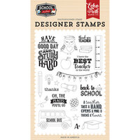 Echo Park - School Rules Collection - Clear Photopolymer Stamps - Study Hard