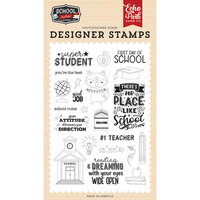 Echo Park - School Rules Collection - Clear Photopolymer Stamps - Super Student