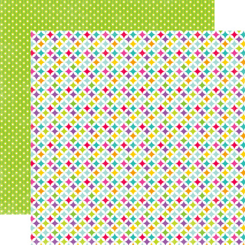 Echo Park - Summer Days Collection - 12 x 12 Double Sided Paper - Quilt