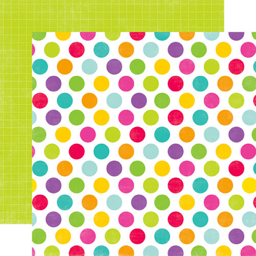 Echo Park - Summer Days Collection - 12 x 12 Double Sided Paper - Big Dots