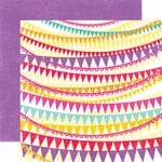 Echo Park - Summer Days Collection - 12 x 12 Double Sided Paper - Banners