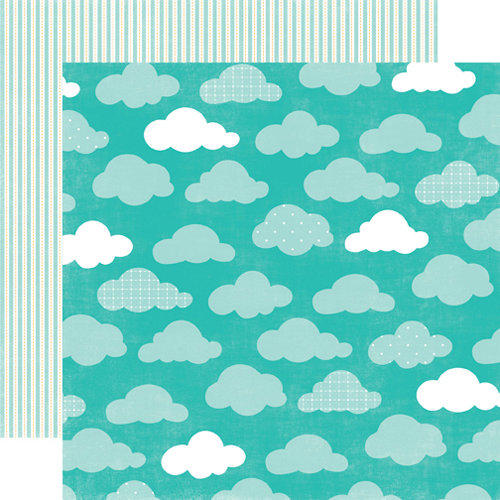 Echo Park - Summer Days Collection - 12 x 12 Double Sided Paper - Clouds