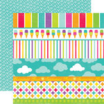 Echo Park - Summer Days Collection - 12 x 12 Double Sided Paper - Borders