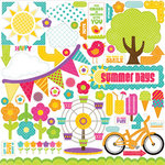 Echo Park - Summer Days Collection - 12 x 12 Cardstock Stickers - Elements