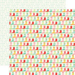 Echo Park - Sunny Days Ahead Collection - 12 x 12 Double Sided Paper - Rain Boots
