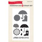 Echo Park - Sunny Days Ahead Collection - Designer Die and Clear Acrylic Stamp Set - Hello Spring