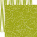 Echo Park - Runway Collection - 12 x 12 Double Sided Paper - Green Flourish