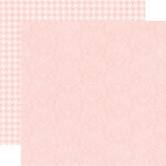 Echo Park - Runway Collection - 12 x 12 Double Sided Paper - Light Pink Damask