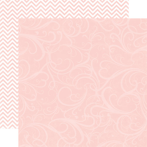 Echo Park - Runway Collection - 12 x 12 Double Sided Paper - Light Pink Flourish