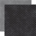 Echo Park - Upscale Collection - 12 x 12 Double Sided Paper - Black Quatrefoil