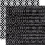 Echo Park - Upscale Collection - 12 x 12 Double Sided Paper - Black Quatrefoil