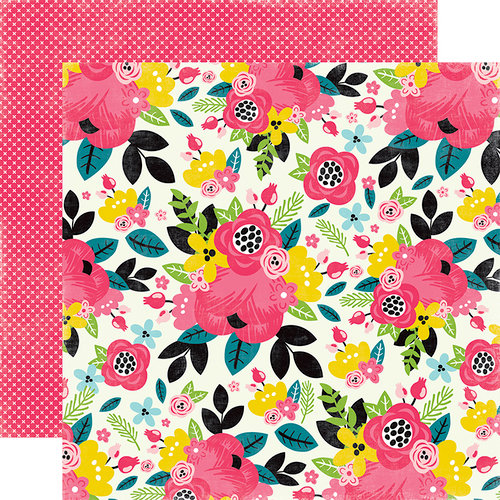Echo Park - Summer Fun Collection - 12 x 12 Double Sided Paper - Summer Floral