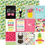 Echo Park - Summer Fun Collection - 12 x 12 Double Sided Paper - 3 x 4 Journaling Cards