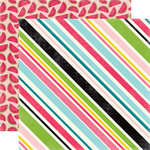 Echo Park - Summer Fun Collection - 12 x 12 Double Sided Paper - Sweet Stripe