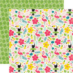 Echo Park - Summer Fun Collection - 12 x 12 Double Sided Paper - Tropical Floral
