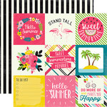 Echo Park - Summer Fun Collection - 12 x 12 Double Sided Paper - 4 x 4 Journaling Cards