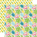 Echo Park - Summer Fun Collection - 12 x 12 Double Sided Paper - Flamingo and Palm