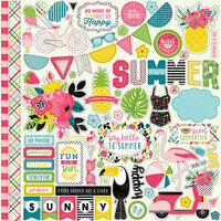 Echo Park - Summer Fun Collection - 12 x 12 Cardstock Stickers - Elements