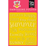Echo Park - Summer Fun Collection - Embossing Folder - Sunny Summer