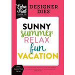 Echo Park - Summer Fun Collection - Designer Dies - Sunny Summer Word