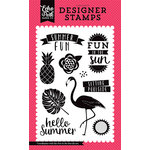 Echo Park - Summer Fun Collection - Clear Photopolymer Stamps - Fun in the Sun