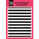 Echo Park - Summer Fun Collection - Clear Acrylic Stamps - Cabana Stripe A2 Background