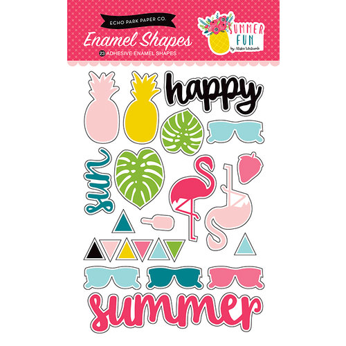 Echo Park - Summer Fun Collection - Enamel Shapes