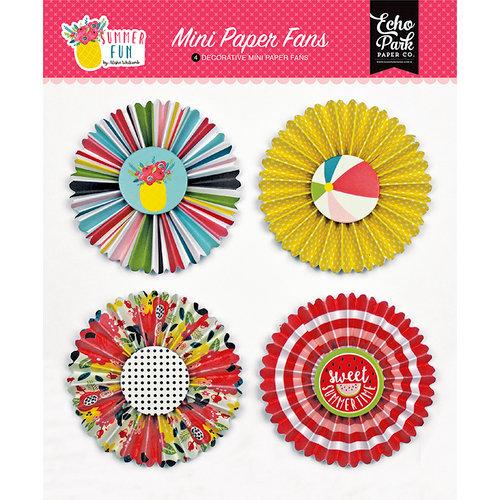 Echo Park - Summer Fun Collection - Mini Paper Fans