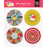Echo Park - Summer Fun Collection - Mini Paper Fans