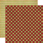 Echo Park - Season's Greetings Collection - Christmas - 12 x 12 Double Sided Paper - Plaid