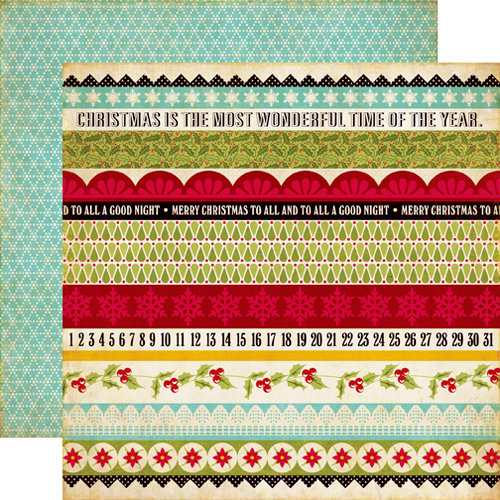 Echo Park - Season's Greetings Collection - Christmas - 12 x 12 Double Sided Paper - Border