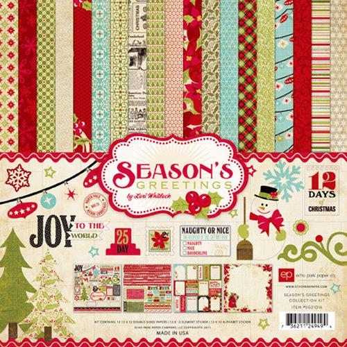 Echo Park - Season's Greetings Collection - Christmas - 12 x 12 Collection Kit