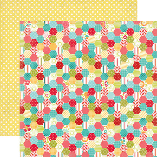Echo Park - So Happy Together Collection - 12 x 12 Double Sided Paper - Patchwork