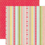 Echo Park - So Happy Together Collection - 12 x 12 Double Sided Paper - Happy Stripes