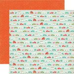 Echo Park - So Happy Together Collection - 12 x 12 Double Sided Paper - Road Trip