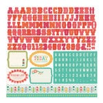 Echo Park - So Happy Together Collection - 12 x 12 Cardstock Stickers - Alphabet