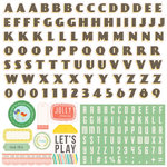 Echo Park - Simple Life Collection - 12 x 12 Cardstock Stickers - Alphabet