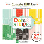 Echo Park - Simple Life Collection - 6 x 6 Paper Pad - Dots and Stripes
