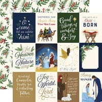 Echo Park - Silent Night Collection - 12 x 12 Double Sided Paper - 3 x 4 Journaling Cards