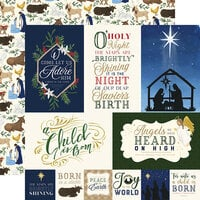 Echo Park - Silent Night Collection - 12 x 12 Double Sided Paper - Journaling Cards