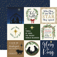 Echo Park - Silent Night Collection - 12 x 12 Double Sided Paper - 4 x 4 Journaling Cards