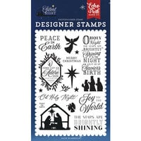 Echo Park - Silent Night Collection - Clear Photopolymer Stamps - Peace On Earth