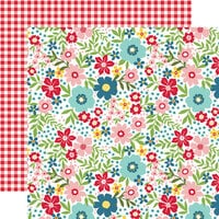 Echo Park - A Slice of Summer Collection - 12 x 12 Double Sided Paper - Summer Floral