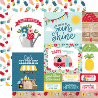 Echo Park - A Slice of Summer Collection - 12 x 12 Double Sided Paper - Multi Journaling Cards