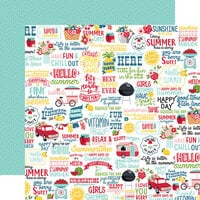 Echo Park - A Slice of Summer Collection - 12 x 12 Double Sided Paper - Fun In The Sun
