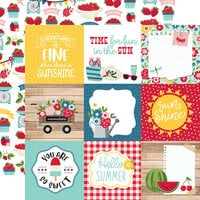 Echo Park - A Slice of Summer Collection - 12 x 12 Double Sided Paper - 4 x 4 Journaling Cards