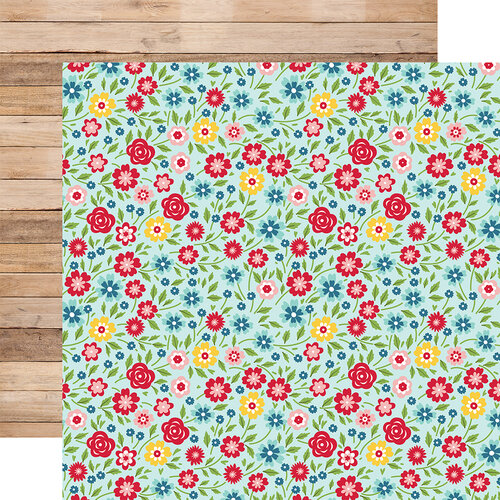 Echo Park - A Slice of Summer Collection - 12 x 12 Double Sided Paper - Hello Summer Floral